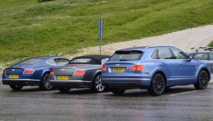 Bentley Bentayga diesel spotted, edges close to production