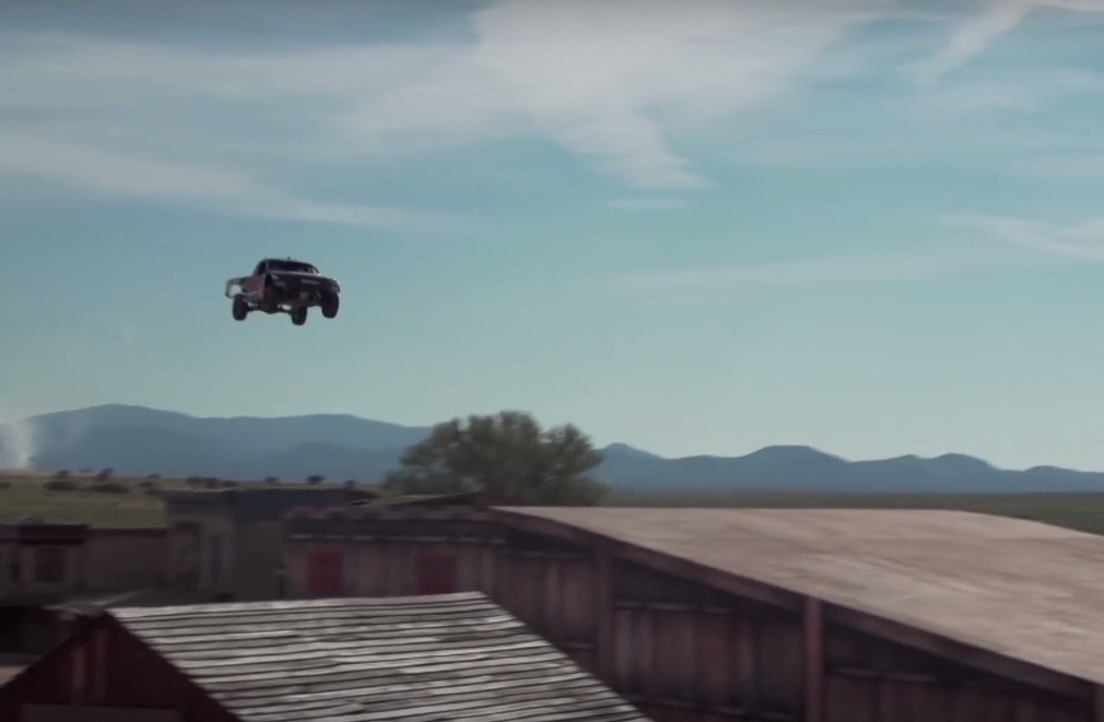 New world record sees truck jumping ghost town