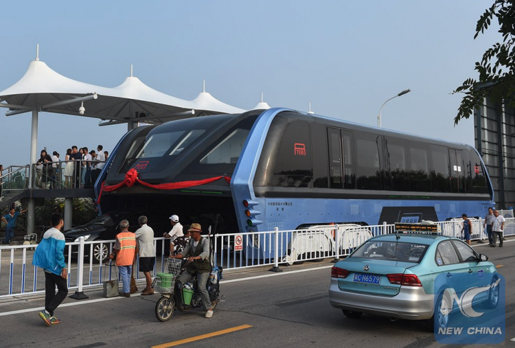 China elevated bus