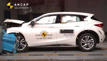 Infiniti Q30 awarded 5-star ANCAP safety