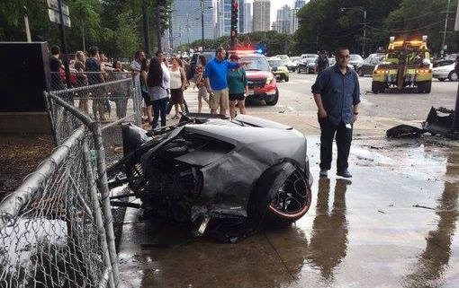 Lamborghini Huracan crash-Chicago