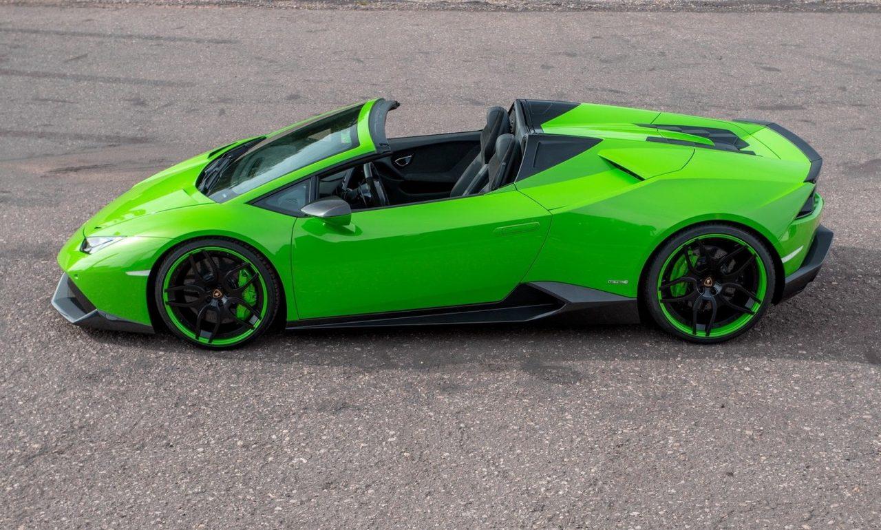 Huracan Lamborghini Spyder Green