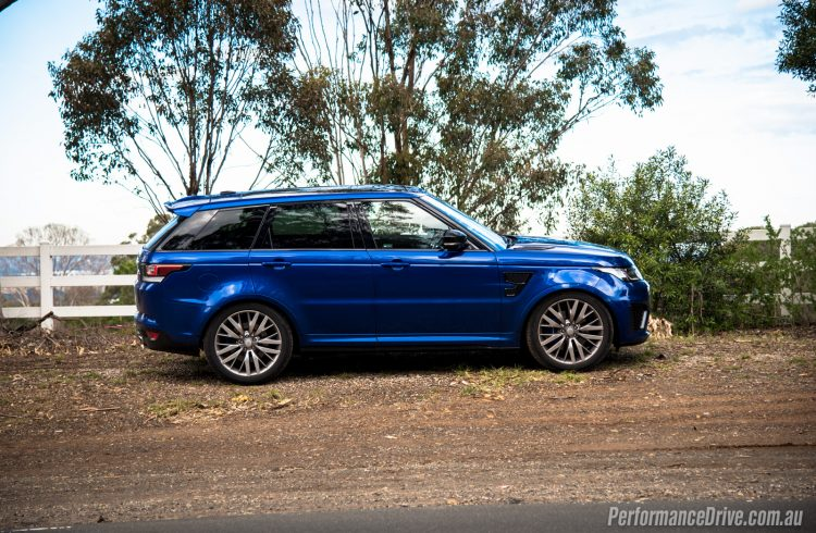 Range Rover Sport SVR-low suspension