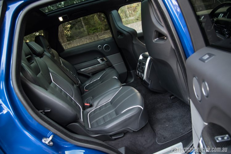 Range Rover Sport SVR-rear seats
