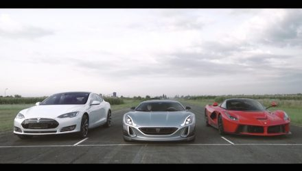 Video: Rimac One vs Tesla Model S vs LaFerrari