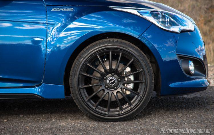 2016 Hyundai Veloster Street Turbo-RAYS wheels