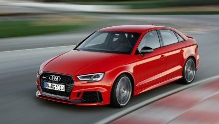 Potent 2017 Audi RS 3 sedan revealed at Paris motor show