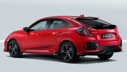 2017 Honda Civic hatch debuts new 1.0 turbo 3cyl