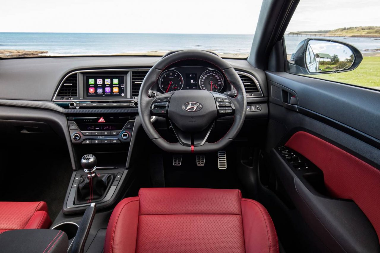 2017 hyundai elantra sr turbo on sale in australia from 28 990 performancedrive for Hyundai elantra sport interior