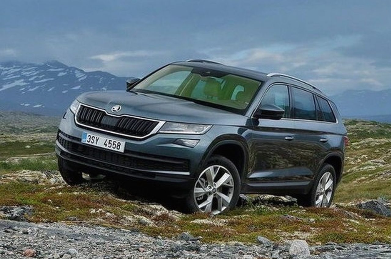 skoda kodiaq revealed in leaked images performancedrive. Black Bedroom Furniture Sets. Home Design Ideas