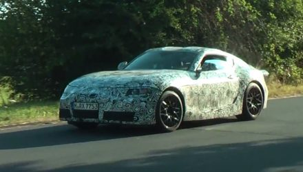 2018 Toyota Supra prototype spotted (video)