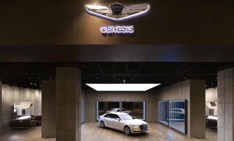 Hyundai Genesis showroom
