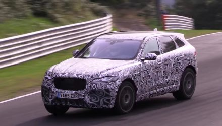 Jaguar F-PACE R / SVR V8 confirmed, prototype spotted (video)