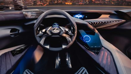Lexus UX interior teased, shows very futuristic design