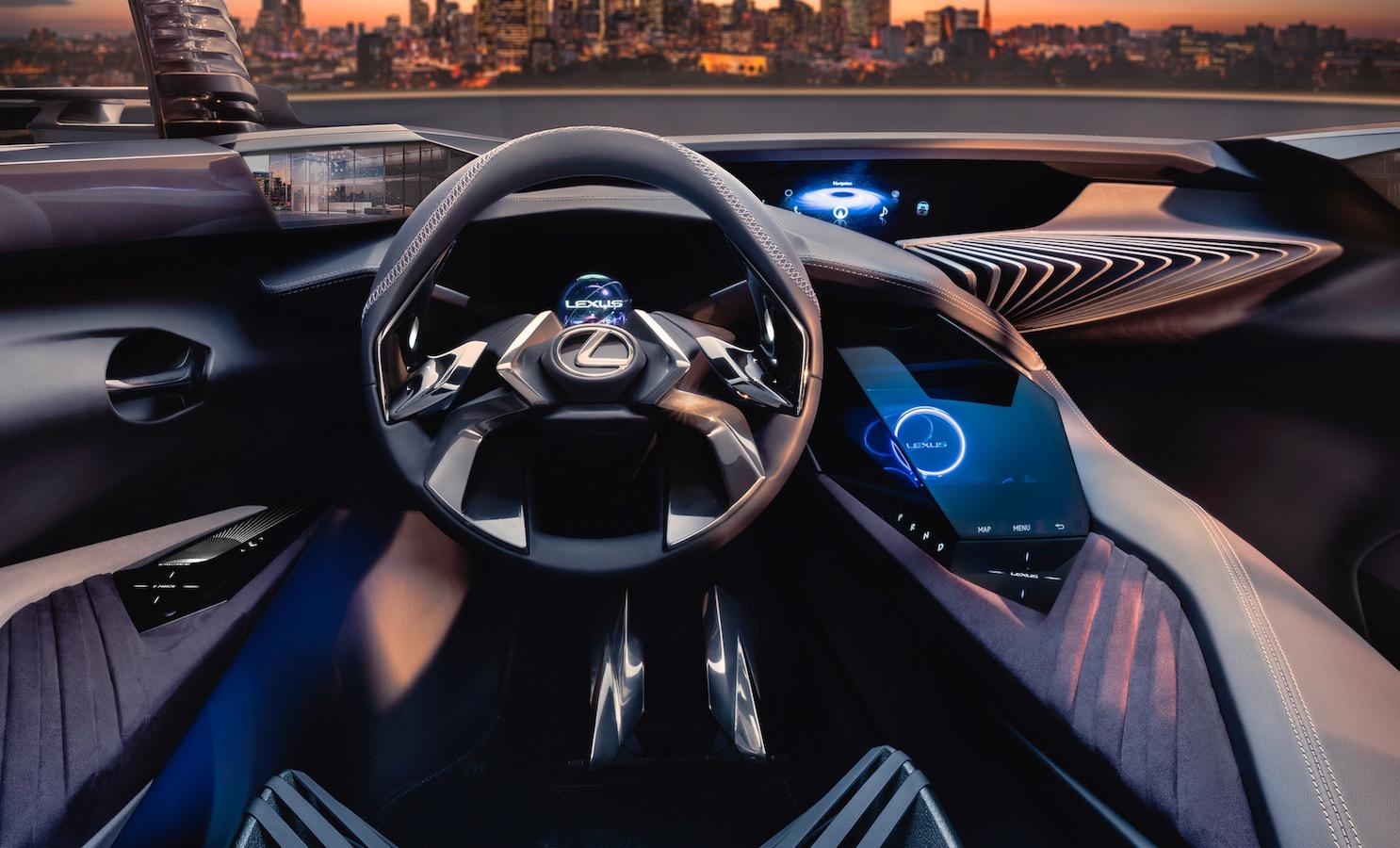 lexus ux interior teased, shows very futuristic design
