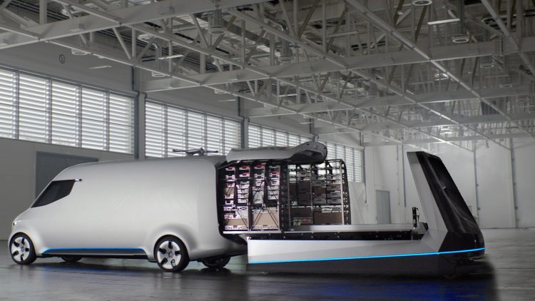 Mercedes-Benz Vision Van-packing