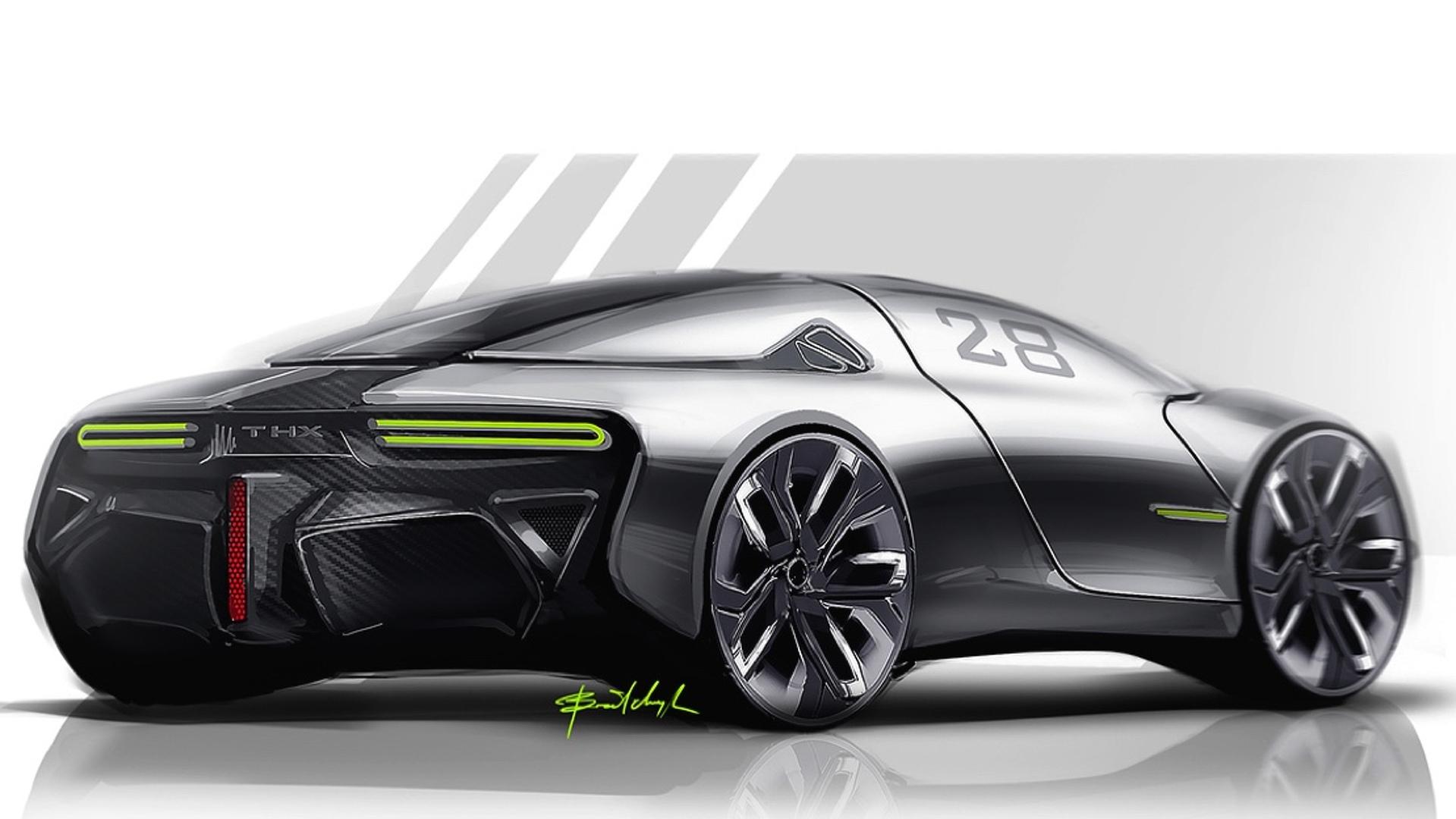 thx concept envisaged as future ev sports car performancedrive. Black Bedroom Furniture Sets. Home Design Ideas