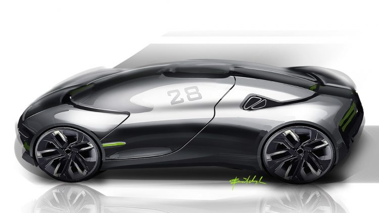 THX sports car concept-side