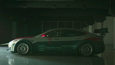 Tesla Model S racing car revealed for Electric GT championship