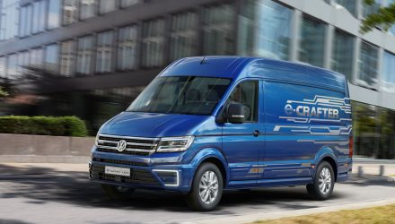 Volkswagen e-Crafter concept previews electric van future