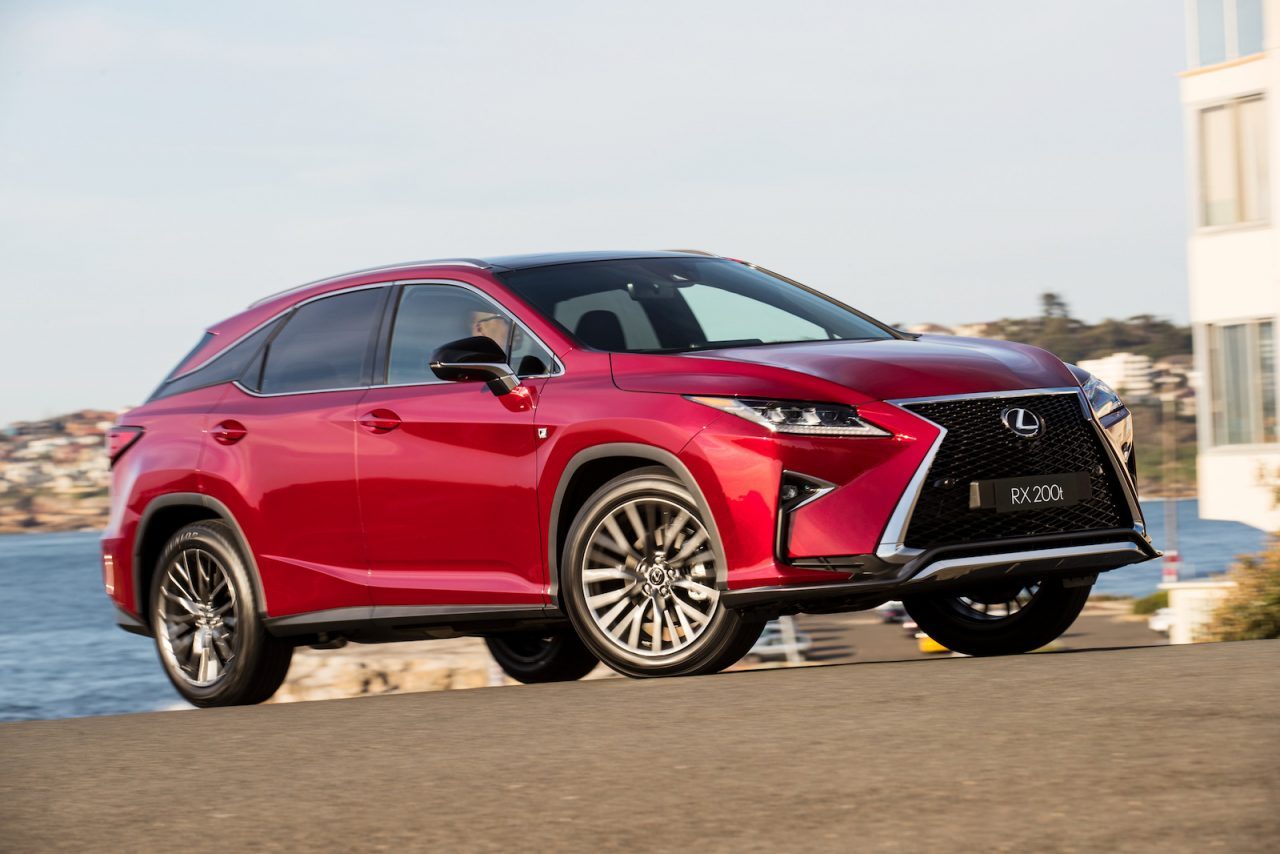 lexus rx 200t now available in f sport sports luxury form performancedrive. Black Bedroom Furniture Sets. Home Design Ideas