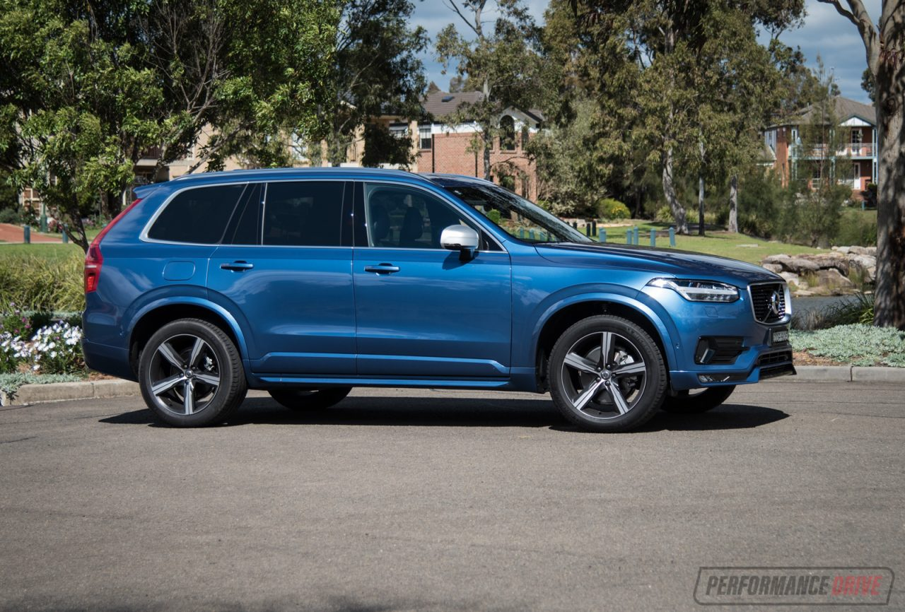 2016 volvo xc90 t6 r design polestar review video performancedrive. Black Bedroom Furniture Sets. Home Design Ideas