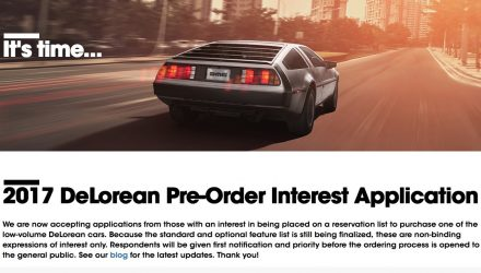 2017 DeLorean DMC-12 pre-orders open