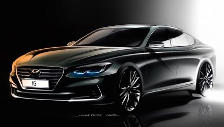 2017 Hyundai Grandeur / Azera previews new flagship sedan