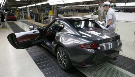 Mazda MX-5 RF production commences, in Australia Q1 2017