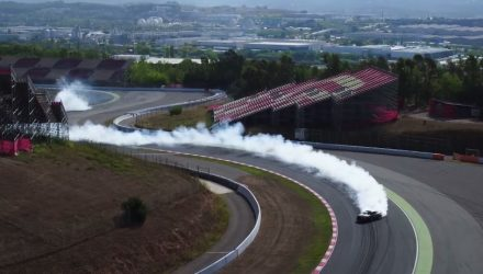 Video: Vaughn Gittin Jr does massive drift at Catalunya circuit