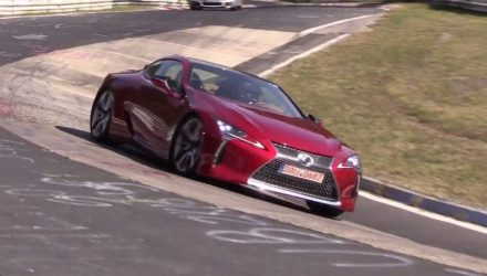 Lexus LC 500 spotted at Nurburgring, thumping V8 sound (video)