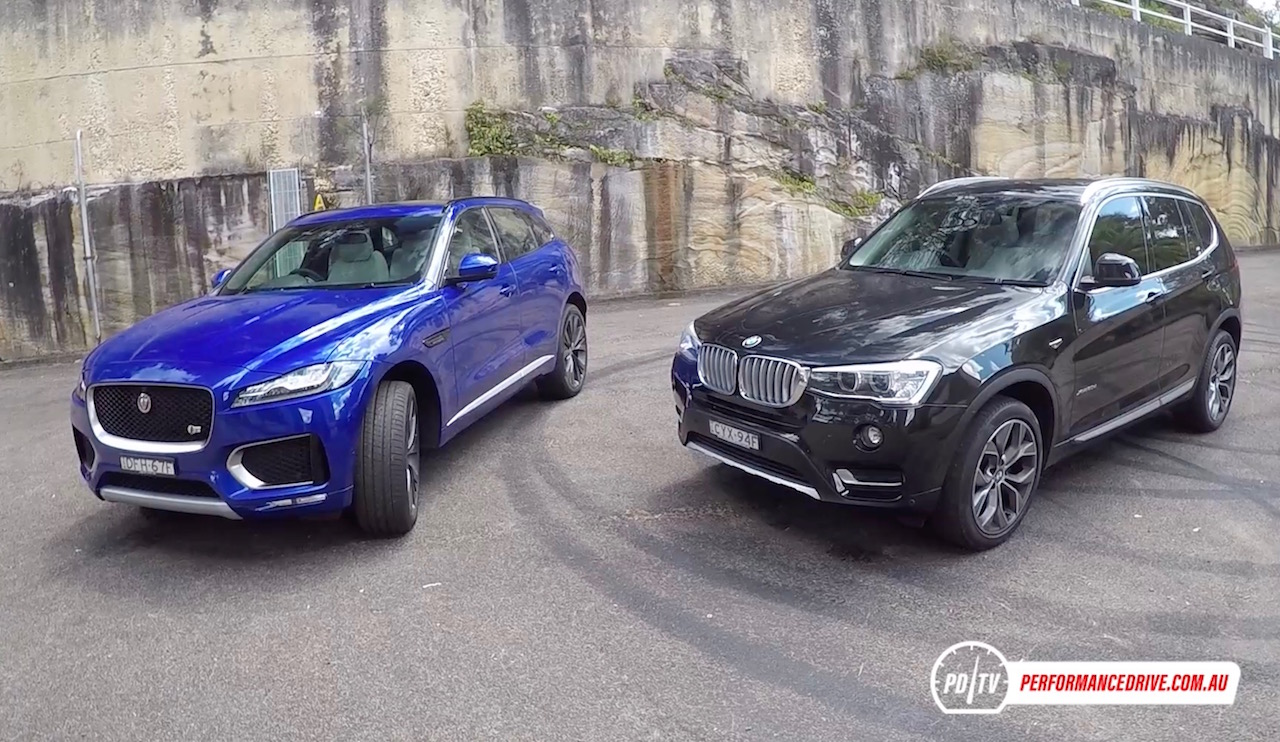 jaguar f pace 30d vs bmw x3 xdrive30d diesel suv comparison pov performancedrive. Black Bedroom Furniture Sets. Home Design Ideas