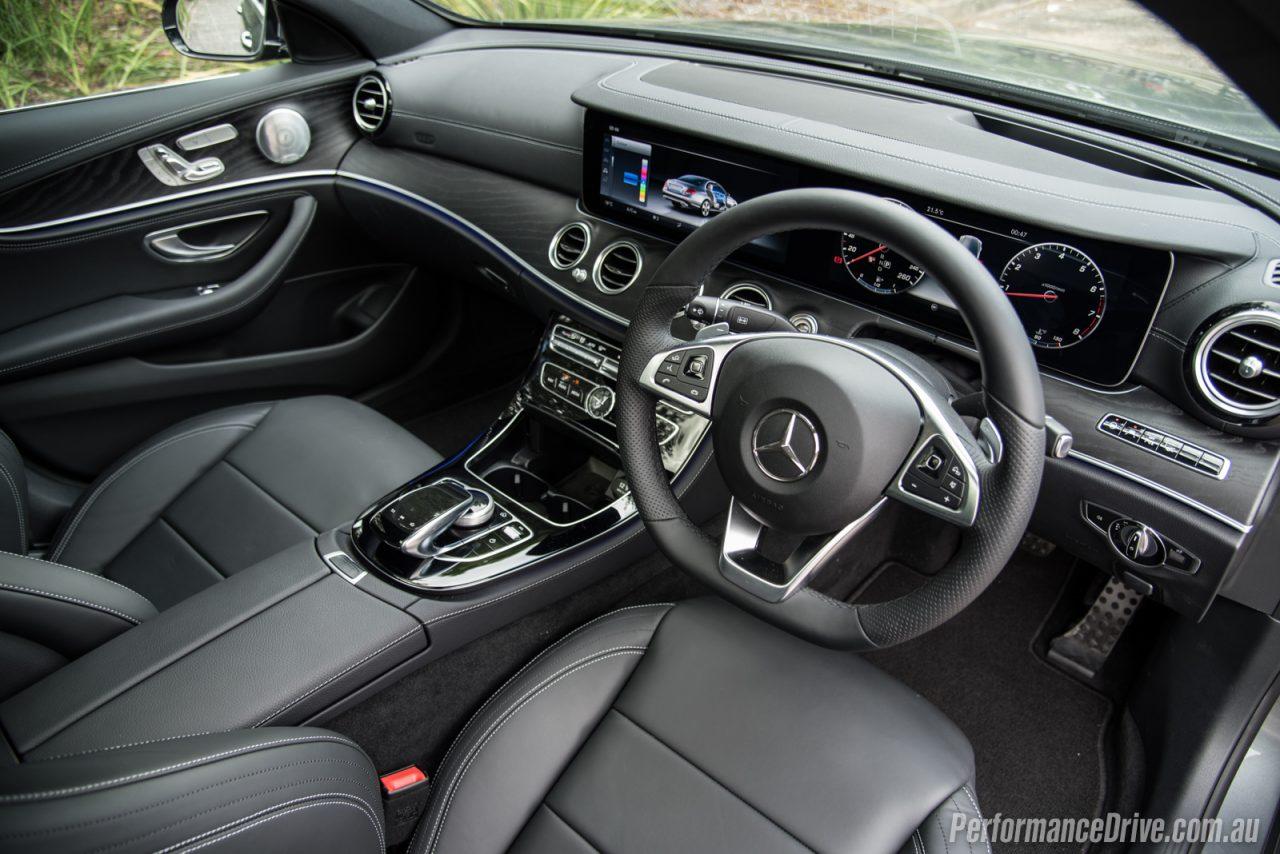 2016 mercedes benz e 200 amg line review performancedrive for Mercedes benz e350 interior
