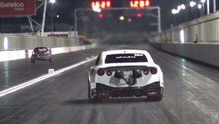 Ekanoo Racing Nissan GT-R breaks 1/4 mile record (video)