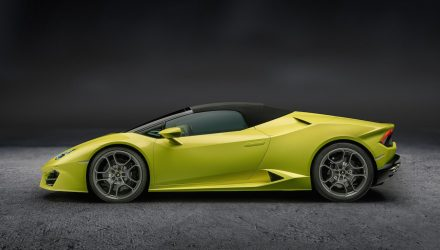 Lamborghini Huracan LP 580-2 Spyder; new RWD drop-top