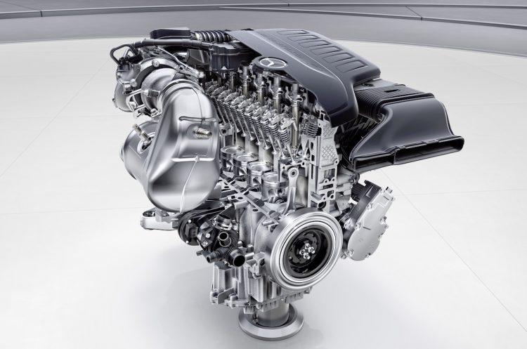 Mercedes-Benz M256 cross section