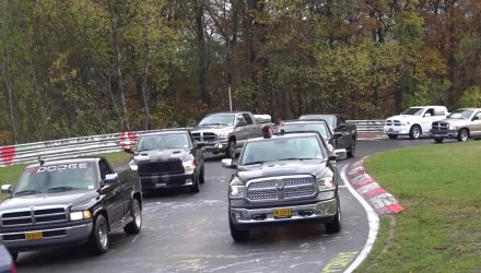 1152 Ram trucks parade Nurburgring to set new record (video)
