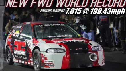 Insane 1380kW Honda Civic breaks FWD 1/4 mile record (video)
