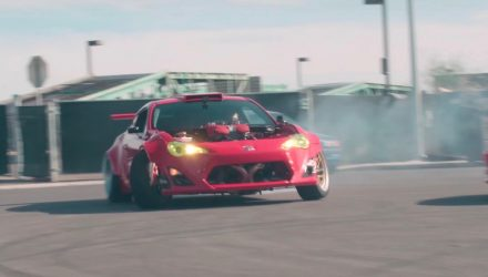 Insane Toyota 86 with F136 V8 Ferrari 458 engine now drives (video)