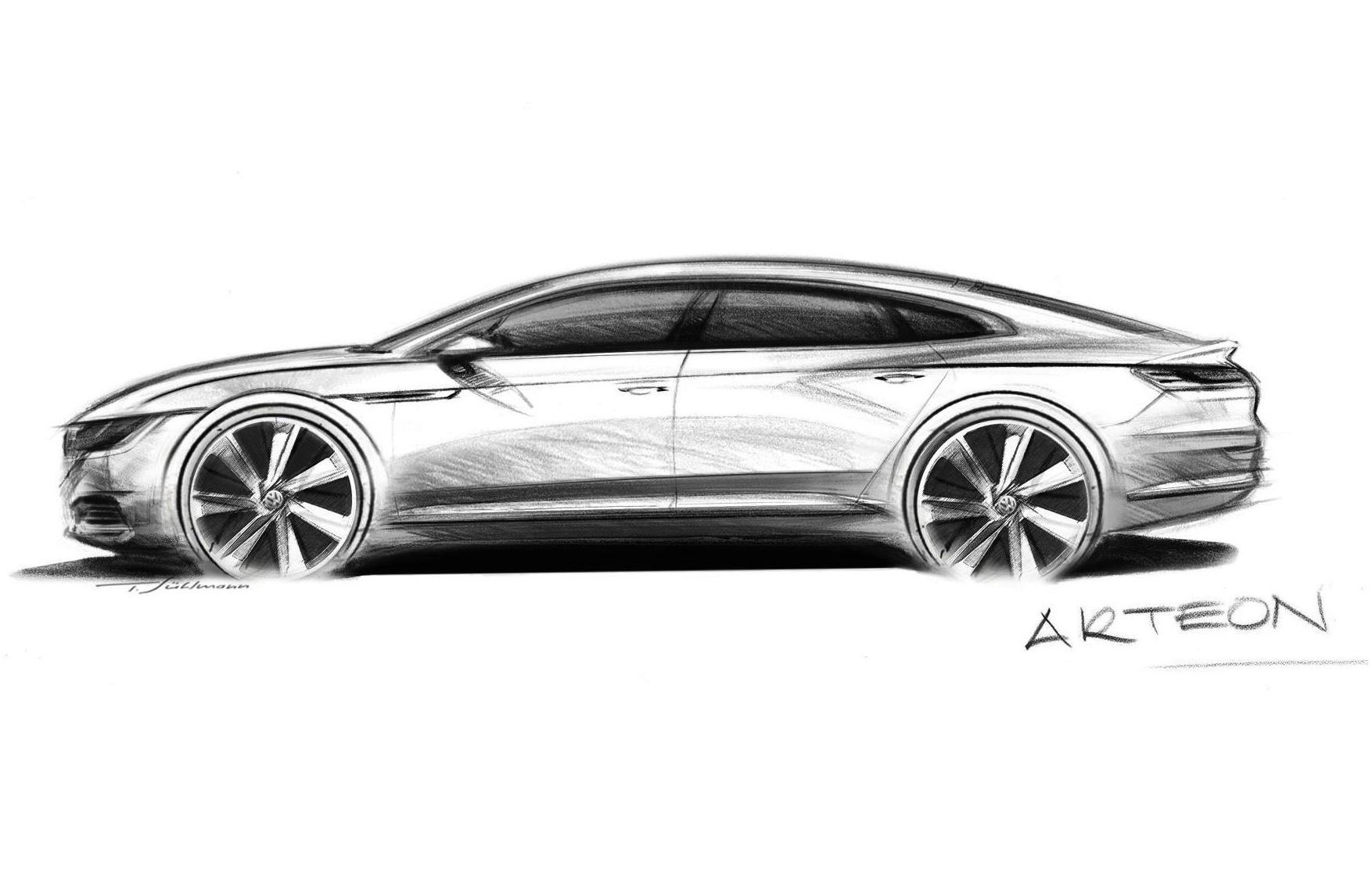VW's new premium sedan previewed