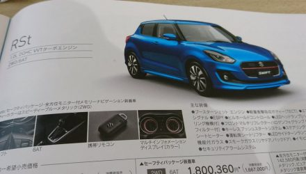 2017 Suzuki Swift leaked again, hybrid & RS turbo confirmed