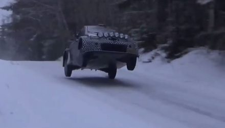 2017 Toyota Yaris WRC prototype looks crazy fast (video)