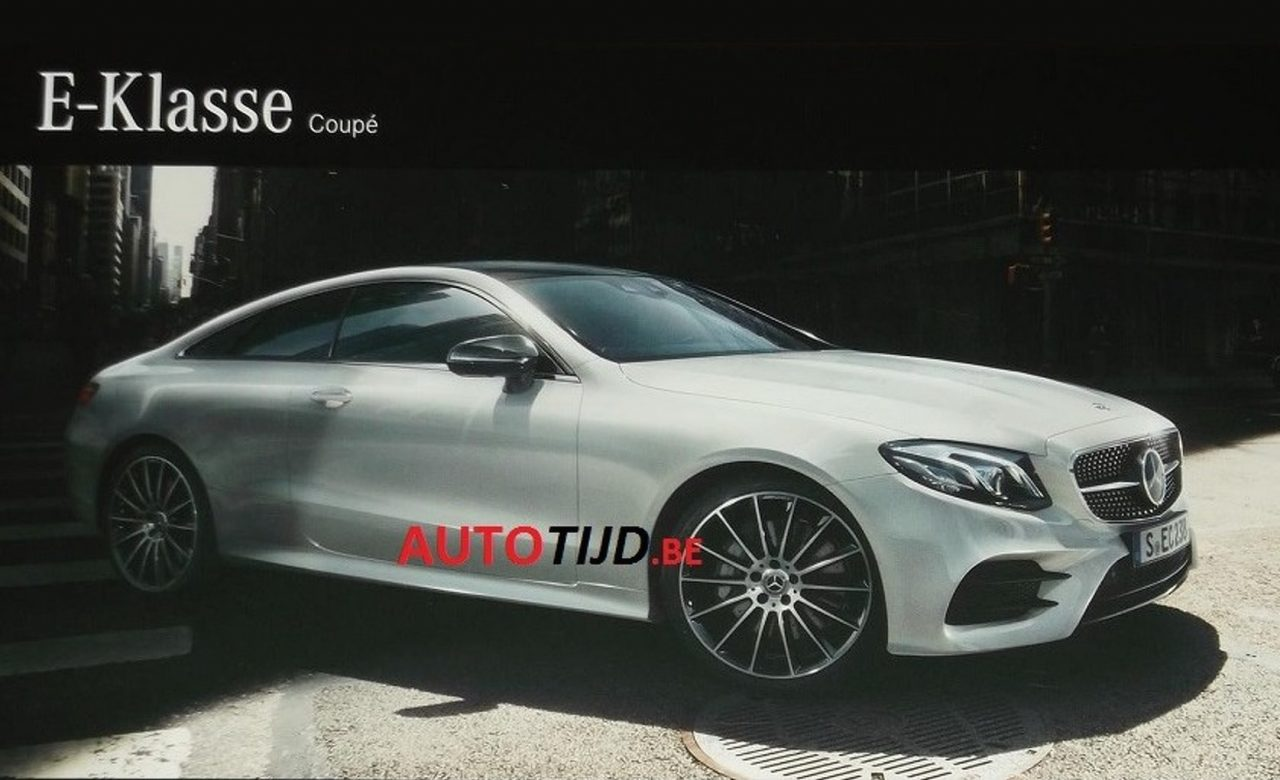 2017 mercedes benz e class coupe revealed in brochure scans performancedrive. Black Bedroom Furniture Sets. Home Design Ideas