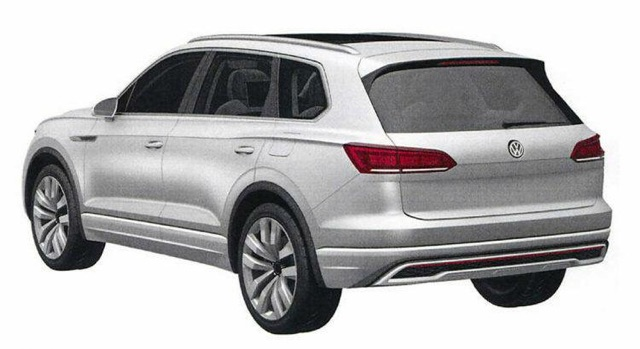 is this the 2018 volkswagen touareg potential patent images surface online performancedrive. Black Bedroom Furniture Sets. Home Design Ideas