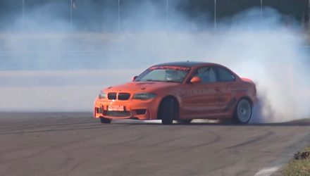 BMW 1 M Coupe gets M5 V10 conversion, insane drifting power (video)