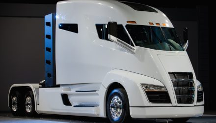 Real Nikola One hydrogen truck revealed with 746kW
