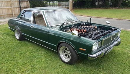 Toyota Corona gets 1GZ-FE V12 engine conversion (video)