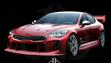 Potential Kia Stinger V8 Supercar rendered