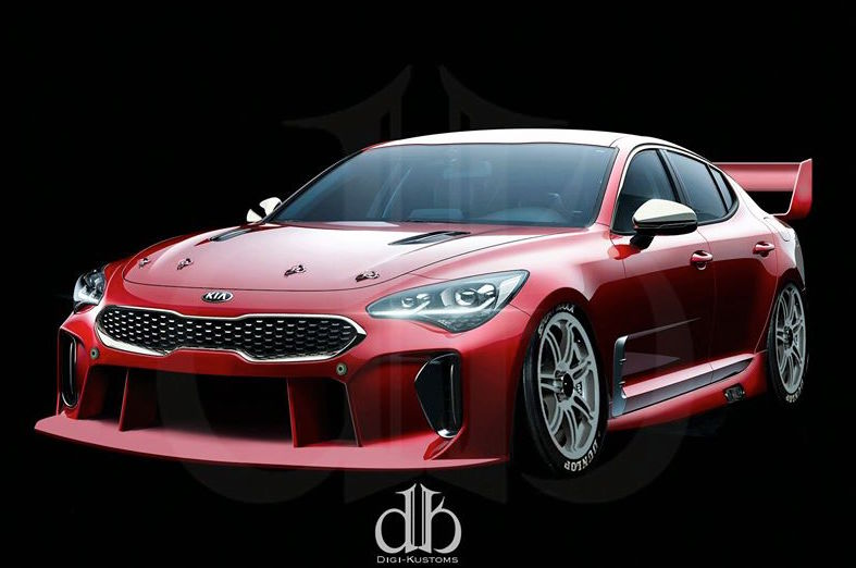 Potential Kia Stinger Supercar Rendered Performancedrive