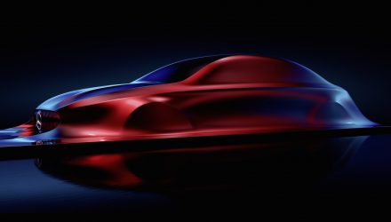 Mercedes Aesthetics A sculpture previews future A-Class sedan